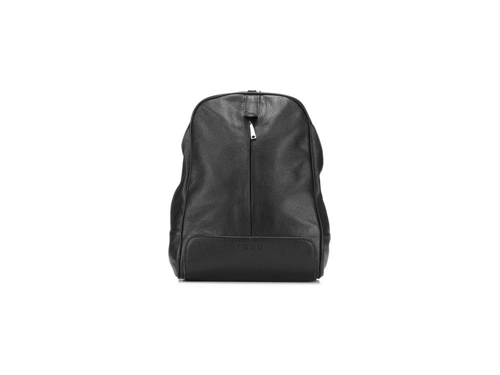 Elegantní městský batoh z pravé kůže; černá