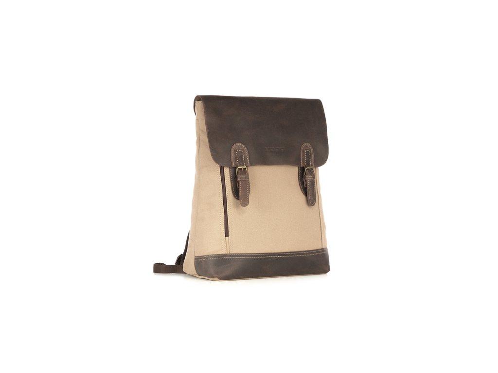 Klasický městský batoh VOOC; béžová