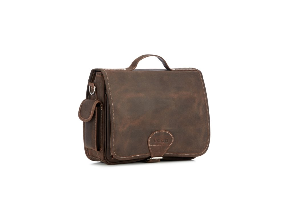 Městská kožená taška VOOC pro každý den; hnědá