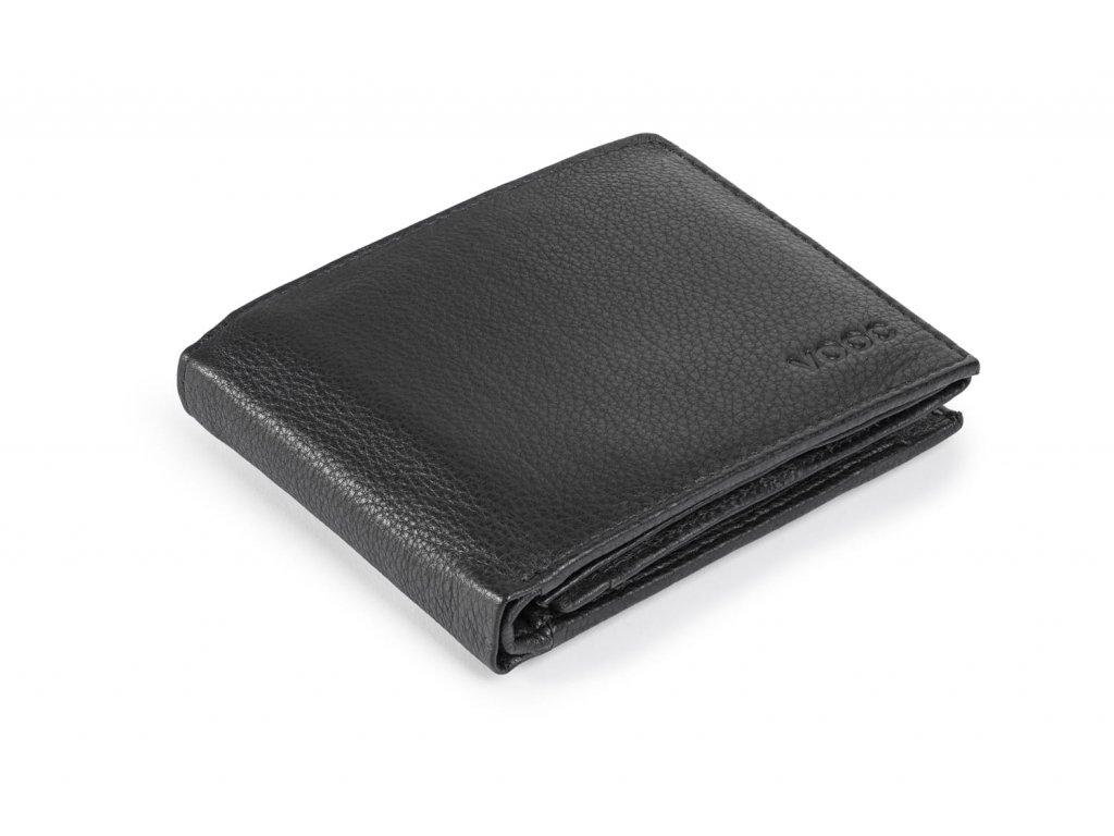 Pánská kožená peněženka Prestige; černá