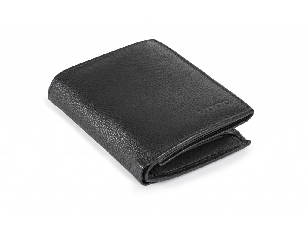 Premiová kožená peněženka Prestige; černá