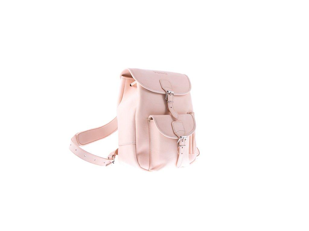 Módní batoh ve vintage stylu, ručně šitý; béžová