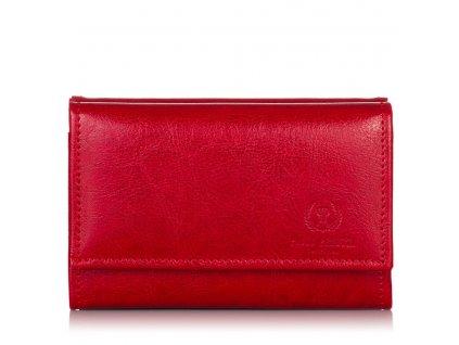 Dámská kožená malá peněženka Paolo Peruzzi; červená