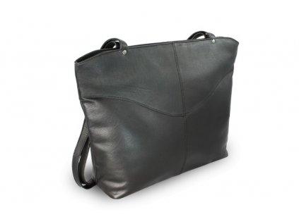 Kožená dámská kabelka přes rameno česká výroba; černá