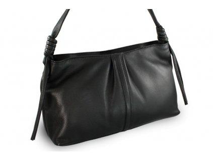 Kožená  dámská kabelka Arwel černá menší