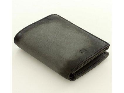 Značková pánská peněženka DAAG z pravé kůže; šedá