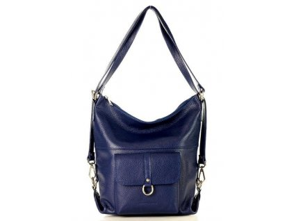 Dámská taška - batoh; modrá