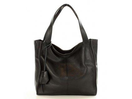 Černá kožená kabelka Mazzini - Portofino Max