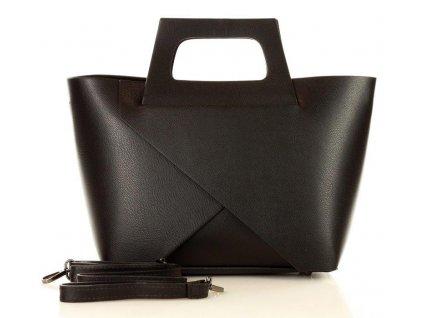 Originální kabelka MARCO MAZZINI shopper košík; černá