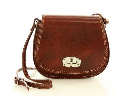 Italská příruční kožená taška MAZZINI Venezia; hnědá