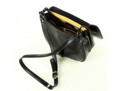 Velká italská taška značky MAZZINI - Toscania Classico; černá