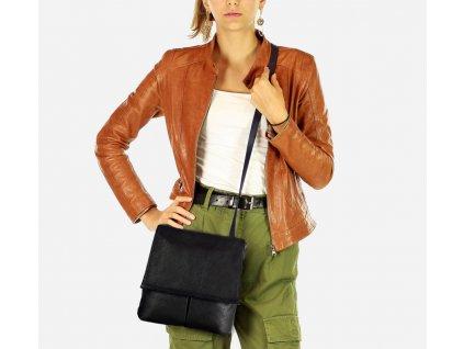 Dámská kožená taška ASSISI černá