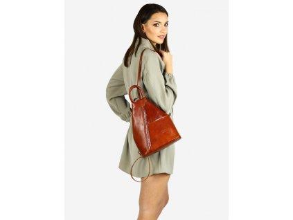 Módní dámský batoh MODENA klasický; velbloud