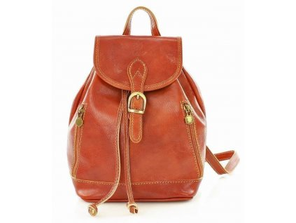 Italský kožený batoh SIMONE; koňak