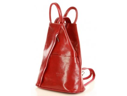 Módní dámský batoh červené třešeň MORENA CLASSIC