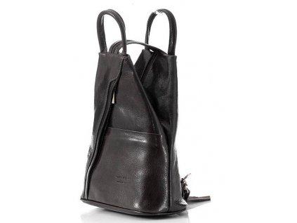 Módní černý batoh MORENA CLASSIC
