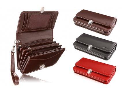 Dámská kožená peněženka s rukojetí VOOC