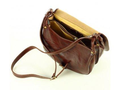 Velká italská taška značky MAZZINI - Toscania Classico; hnědá