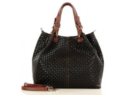 Italská kožená taška MAZZINI - Carina Treccia; černá
