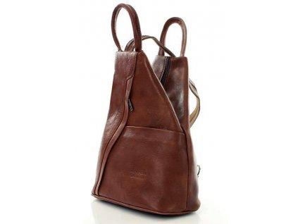 Módní dámský batoh MODENA klasický; bronzová