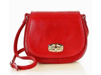Italská příruční kožená taška MAZZINI Venezia; červená