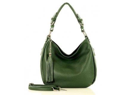 MARCO MAZZINI Elegantní městská kožená taška; zelená