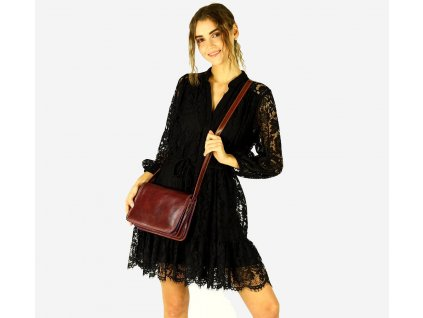 MARCO MAZZINI Italská kožená taška; hnědá
