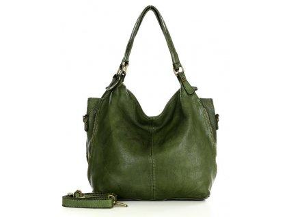 MARCO MAZZINI Kožená kabelka Shopper; zelená