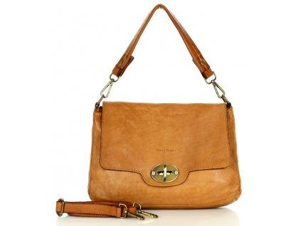 Vintage kožená kabelka MARCO MAZZINI; velbloud