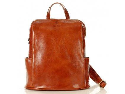 MARCO MAZZINI Elegantní kožený batoh TOMPANATO; hnědá