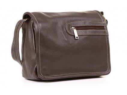 Dvoukomorová taška VOOC Prestige; hnědá
