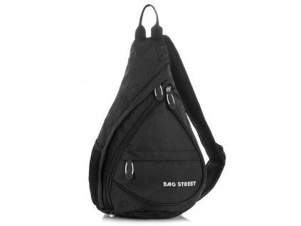 Sportovní nepromokavý batoh na jedno rameno; černá
