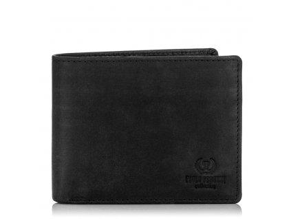 Značková pánská peněženka s ochranou RFID; černá