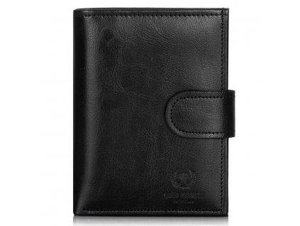 Pánská kožená peněženka Paolo Peruzzi; černá