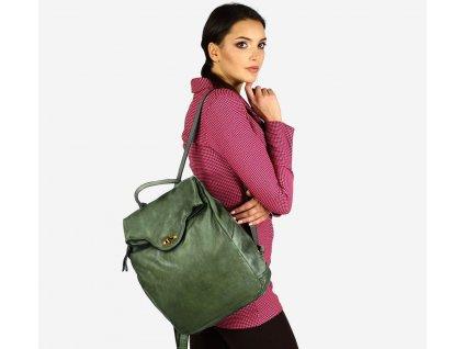 Velký batoh MAZZINI pro studium i cestování; vojenská zelená