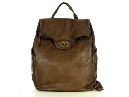 Velký batoh MAZZINI pro studium i cestování; čokoláda
