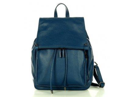 Praktický dámský batoh GIORNO pravá kůže; mořská zelená