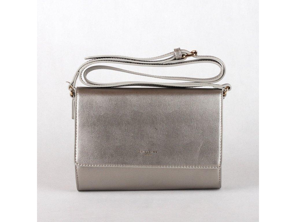 Malá crossbody kabelka David Jones CM3401 stříbrná 2ec816a96d1