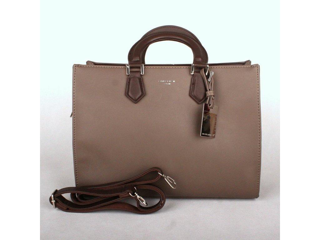 bec3372258 Dámská kabelka do ruky David Jones CM3581 šedo-hnědá (taupe)