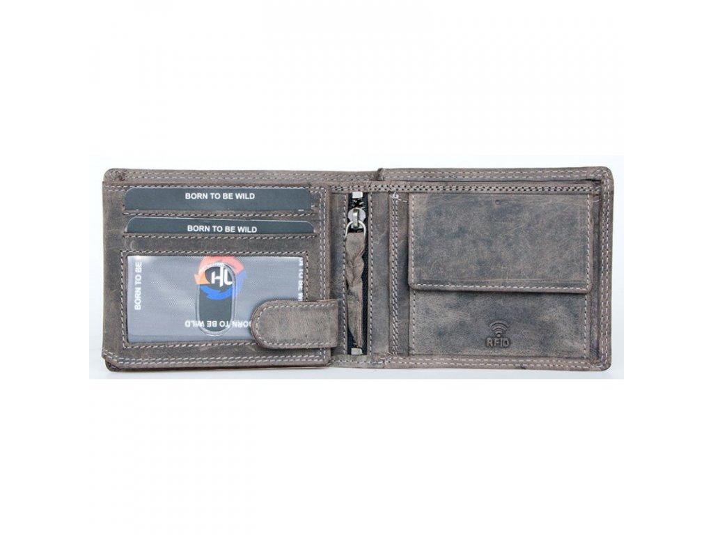 Dámská peněženka The Wild force s býkem šedohnědá 0e9d9b711e