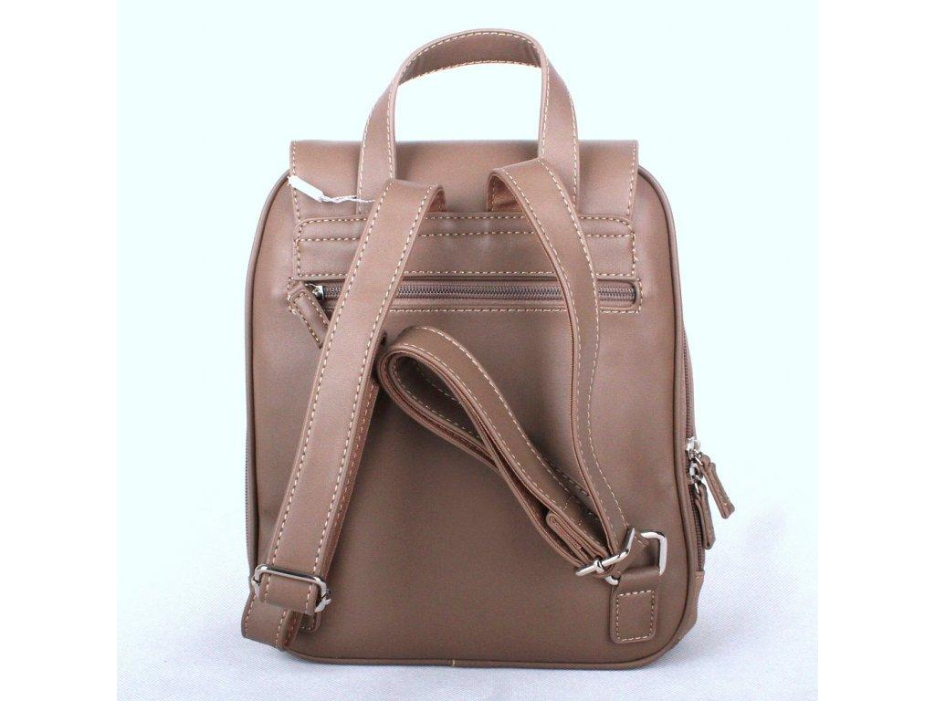 93404b34b8 Městský dámský batoh David Jones CM3615 šedohnědý s obsahem 10l