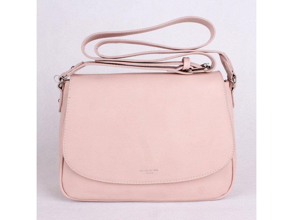 Crossbody kabelka David Jones 5722-2 růžová - Kabelky pro Vás b9621b51079