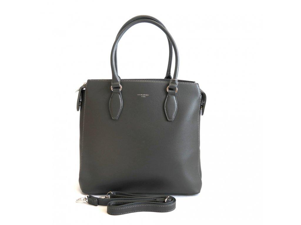 6757f0d165 Dámská tříoddílová kabelka do ruky David Jones 5803-2 šedá