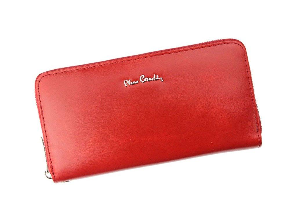 8ee5c0e58d Dámská celozipová kožená peněženka Pierre Cardin 01 LINE 119 červená