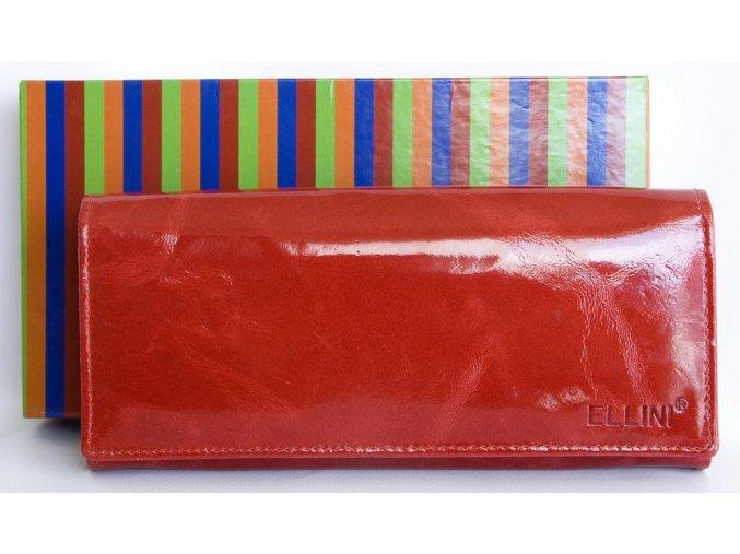 Peněženka ELLINI červená lesklá na drobné na klip