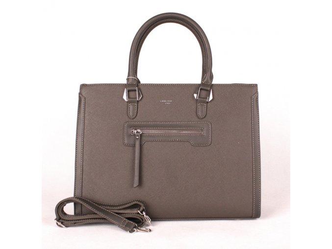 Velká elegantní kabelka do ruky David Jones CM3902 tmavěšedá