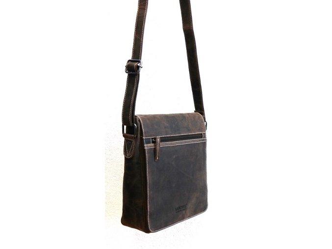 Kožená taška Sanchez no. 670 hnědá