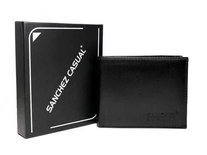Peněženka Sanchez Casual černá mírně lesklá podélná