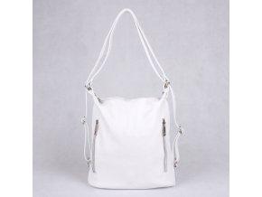 Kožená kabelka na rameno a batoh v 1 no. 7712 žlutá