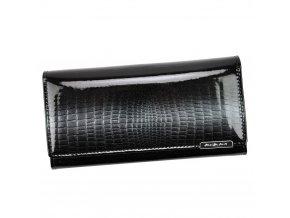 Kožená lesklá peněženka Jennifer Jones 5289-5 černá
